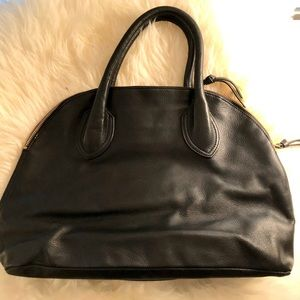 Foley and Corinna black satchel leather tote